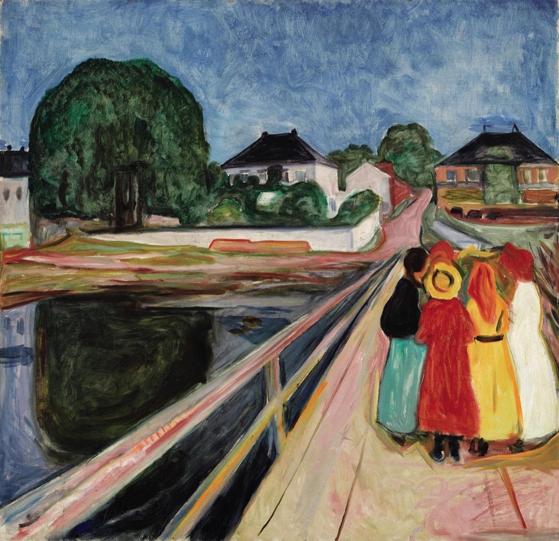 Edvard Munch, Pikene På Broen (Girls on the Bridge) (1902). Image courtesy of Sotheby's.