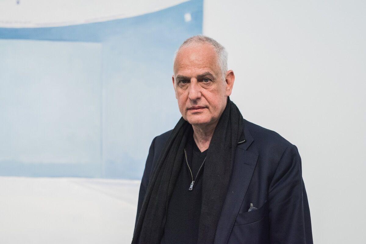 Photo of Luc Tuymansby Alison Slattery, courtesy of La Biennale de Montréal.