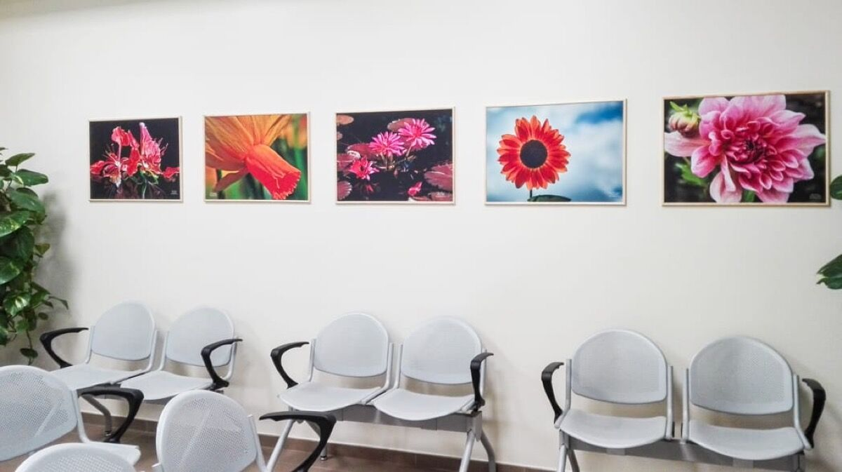 Photos by Dolores Kiriacon, Justin Rodrique, Elaine Poggi, Reynaldo Brigantty, and Maye Schwartz at the Breast Health Center in Florence, Italy. Courtesy of the Foundation for Photo/Art in Hospitals.