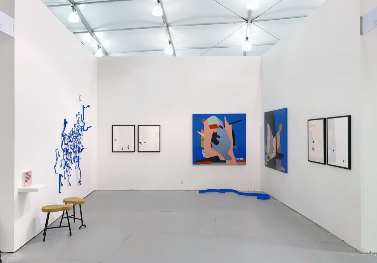 Installation view of DiabloRosso's booth at UNTITLED, Miami Beach, 2016. Photo courtesy of the gallery.