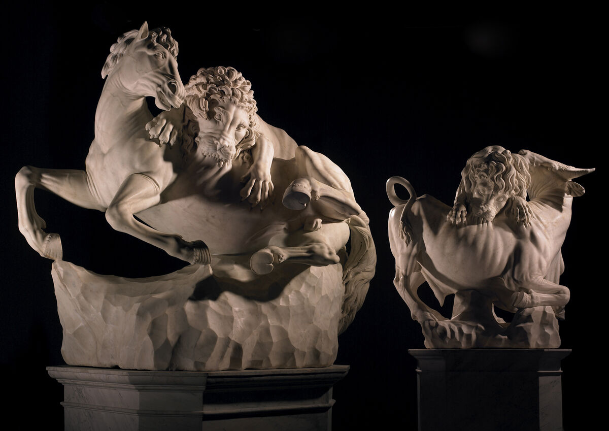 Sculptures attributed to Giovanni Battista Foggini and his workshop. Courtesy of Tomasso Brothers.