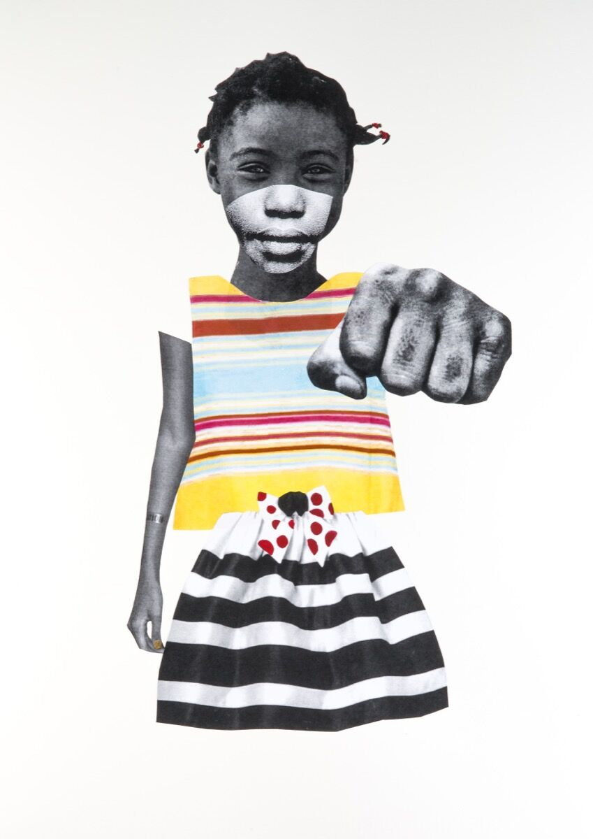 Deborah Roberts, It's All Good, 2017. Courtesy of the artist and Fort Gansevoort, New York. Photo by Philip Rogers.