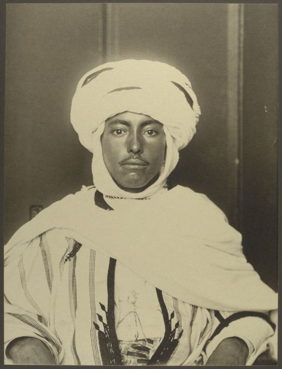 Algerian man. Photograph by Augustus Sherman, via the NYPL Digital Collections.