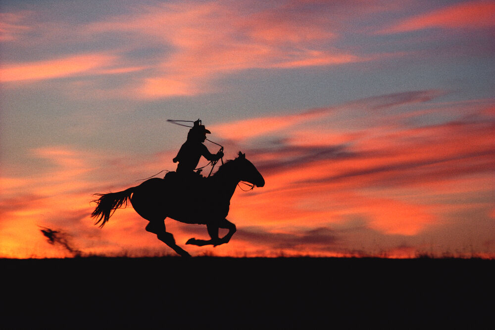 Norm Clasen, Sunset Chase, Riverton, WY, 1985. Courtesy of the artist.