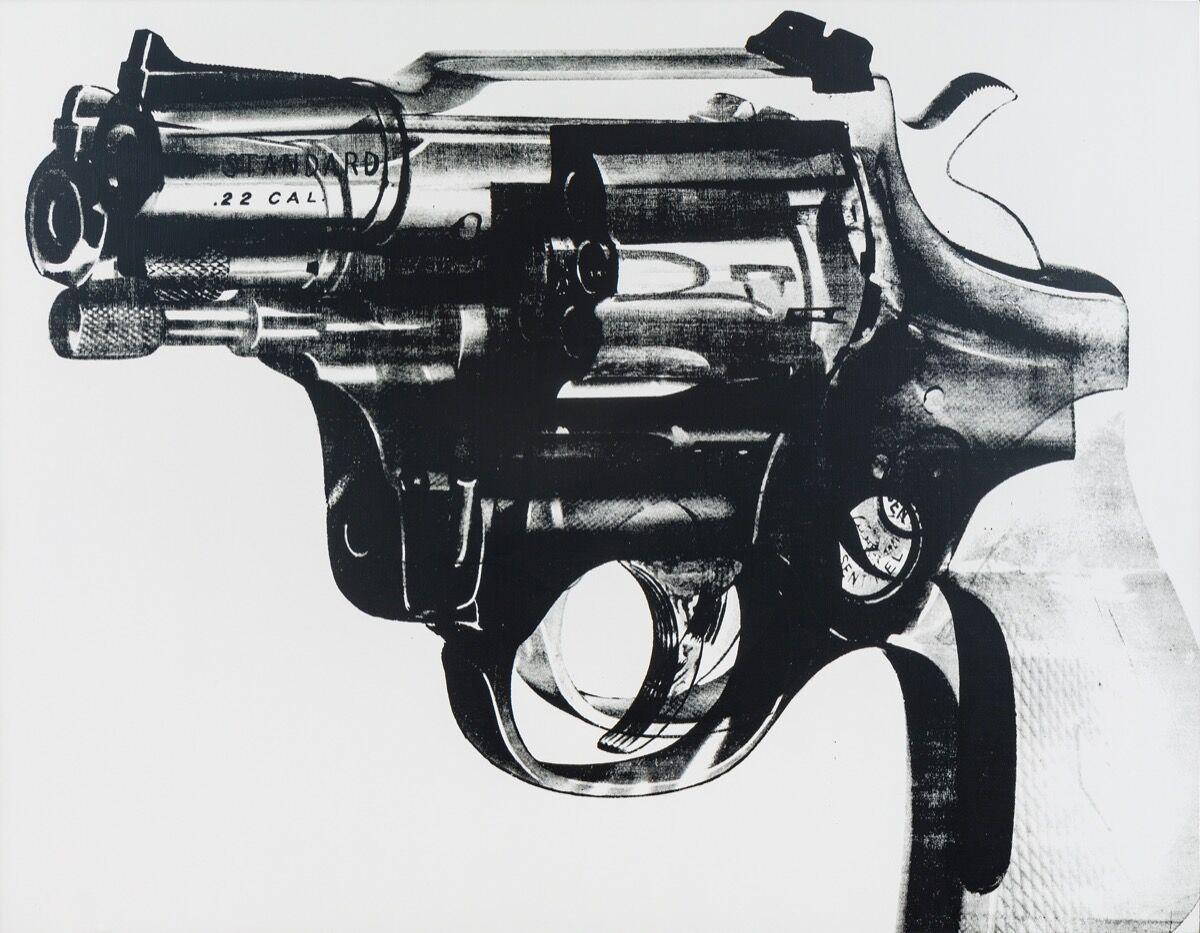 Andy Warhol, Gun, 1981-82. Courtesy of Phillips.