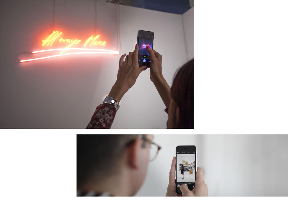 Top left: Installation view of Xavier Hufkens's booth at Art Basel in Miami Beach, 2015. Photo by Oriol Tarridas for Artsy.Lower right:Nick Simmons for Artsy.