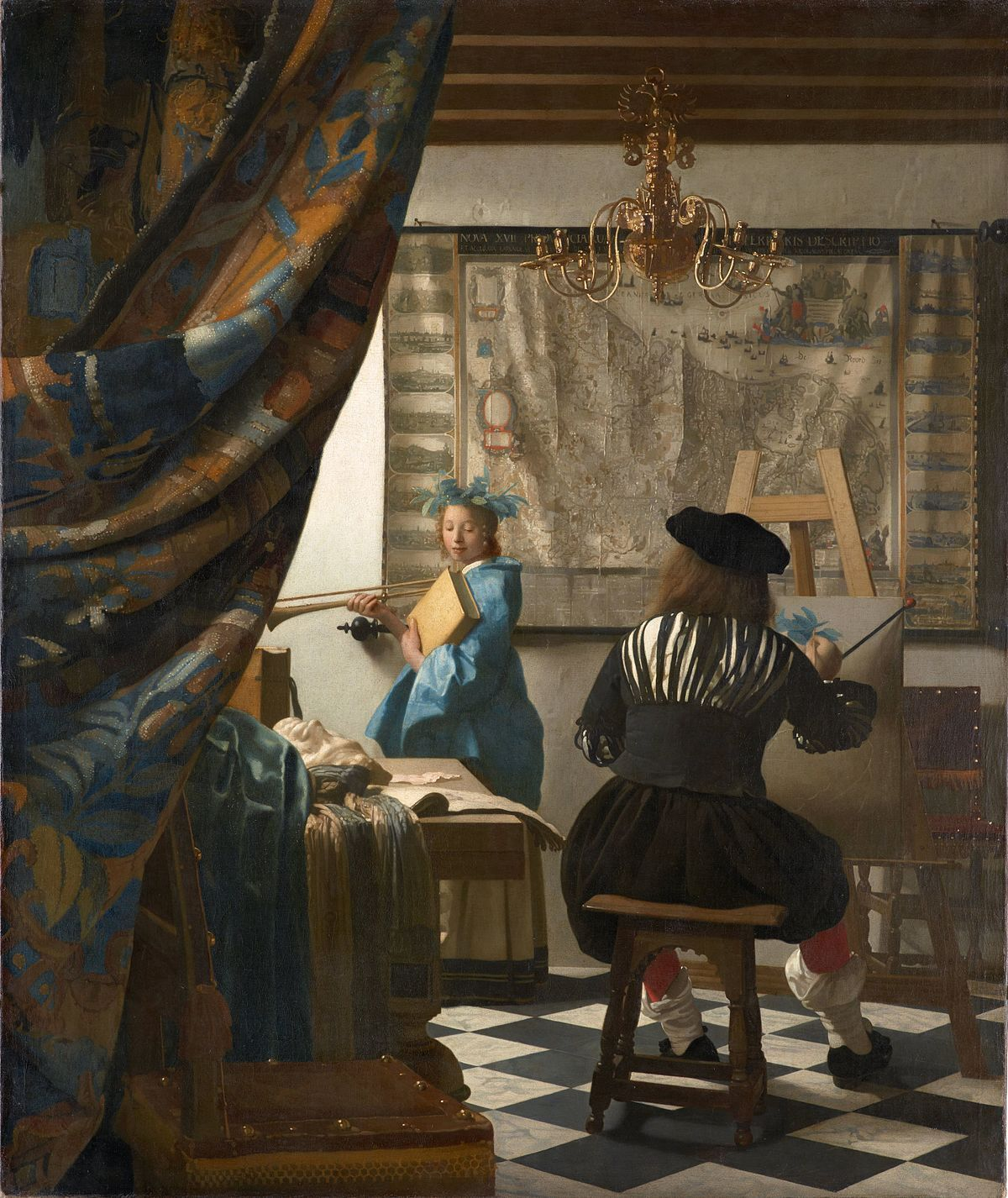 Jan Vermeer, The Art of Painting, 1666–1668. Collection of the Kunsthistoriches Museum, Vienna. Image via Wikimedia Commons.