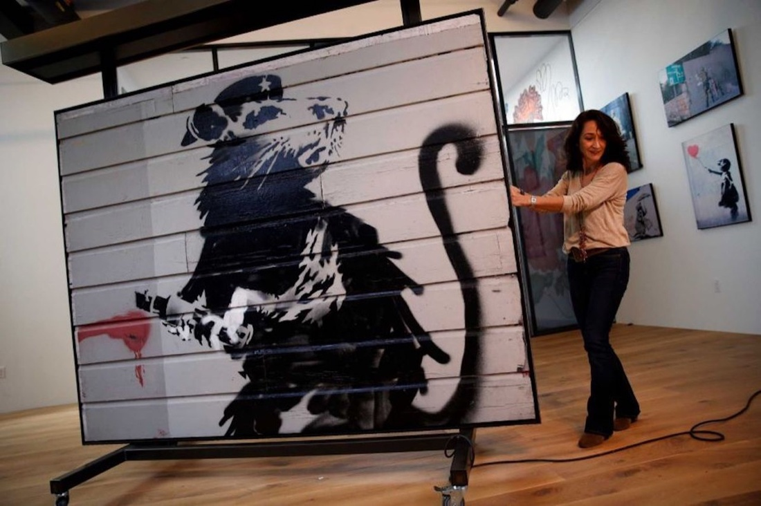 Fully restored rat on display in San Francisco. Image courtesy of Candy Factory Films and Parade Deck Films.