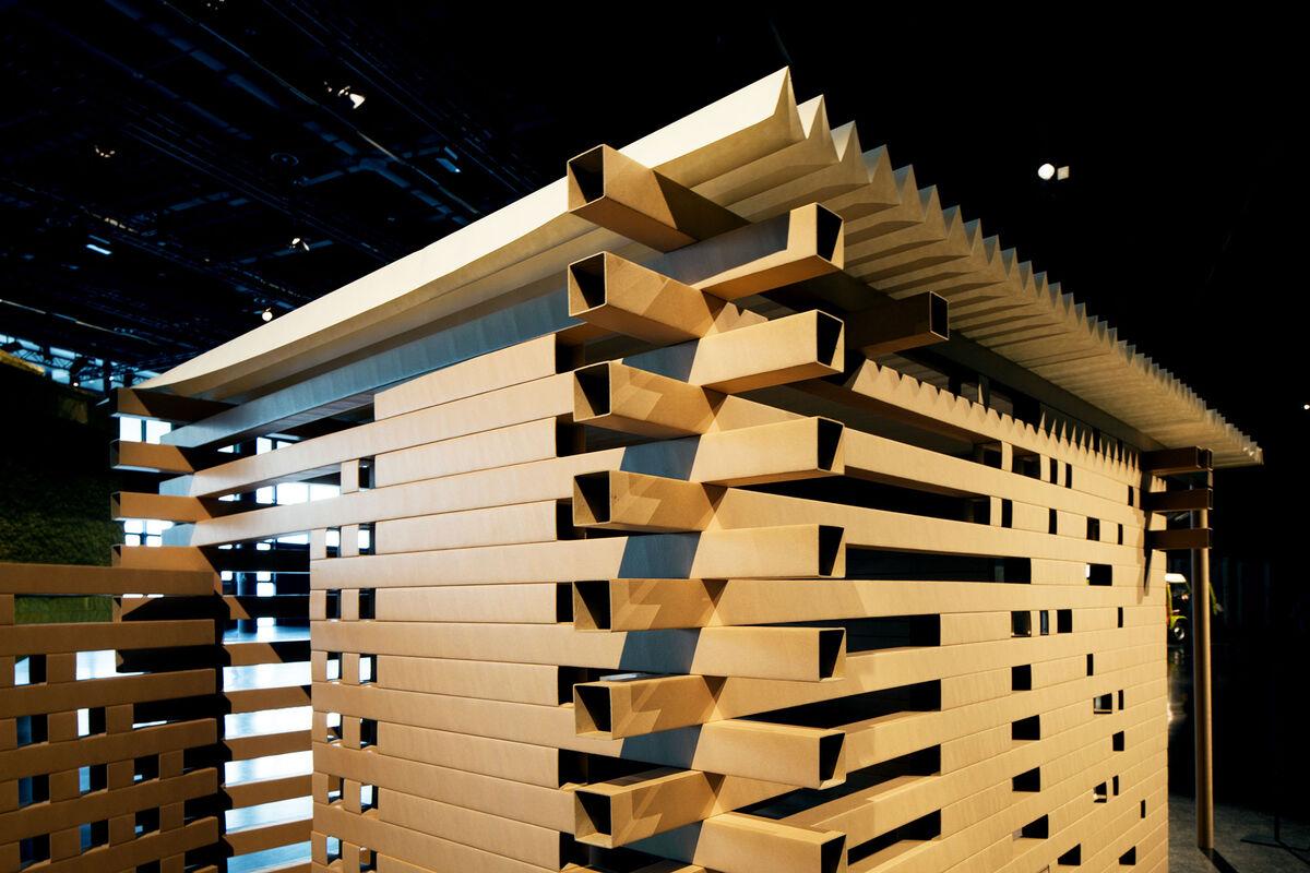 Shigeru Ban,PTH–02 Paper Tea House,2006at Design Miami/ Basel 2015. Photo by Alec Bastian for Artsy
