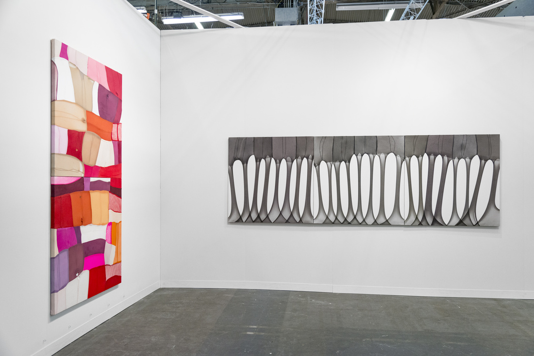 Installation view of works by Turiya Magadlela at Blank Projects's booth at The Armory Show, 2016. Photo by Adam Reich for Artsy.