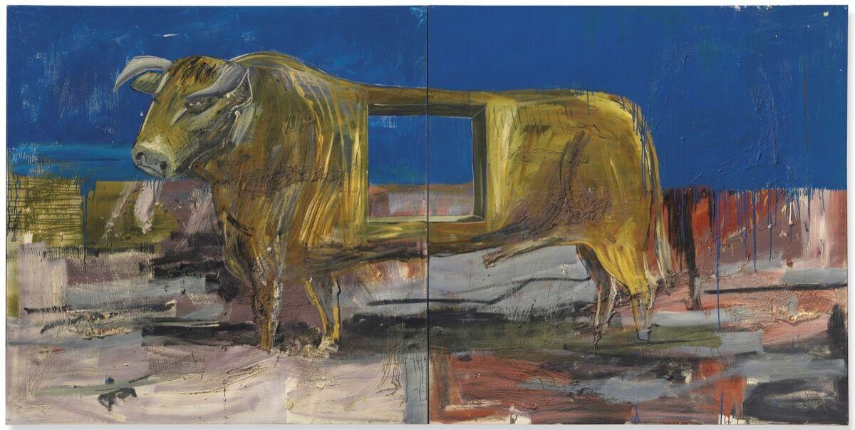 Albert Oehlen, Stier mit loch (Bull with hole), 1986. Courtesy of Christie's.