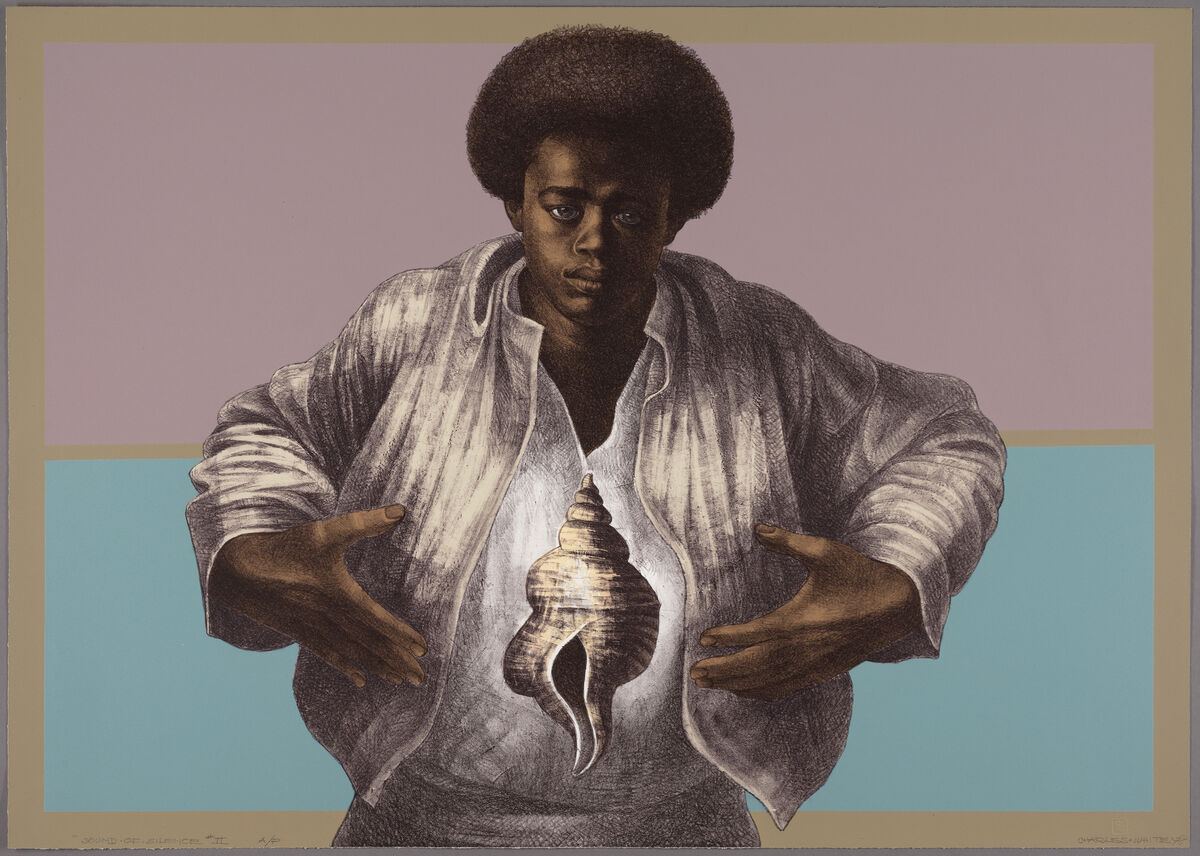 Charles White, Sound of Silence, 1978. © 1953 The Charles White Archives. Courtesy of The Museum of Modern Art.