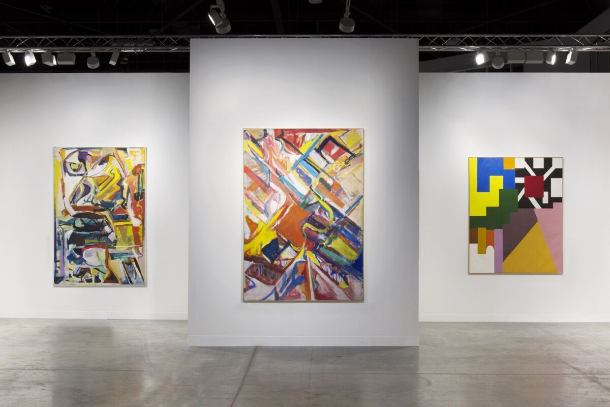 Installation view of Galerie Nathalie Obadia's booth at Art Basel in Miami Beach, 2018. Photo by Dawn Blackman. Courtesy of Galerie Nathalie Obadia, Paris / Brussels.