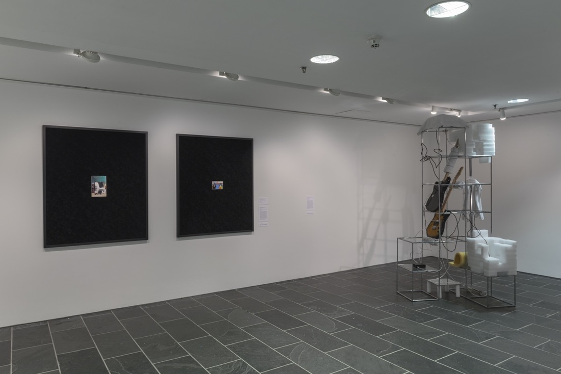 Installation view of works by Sable Elyse Smith and Nikita Gale. Courtesy of the Studio Museum.
