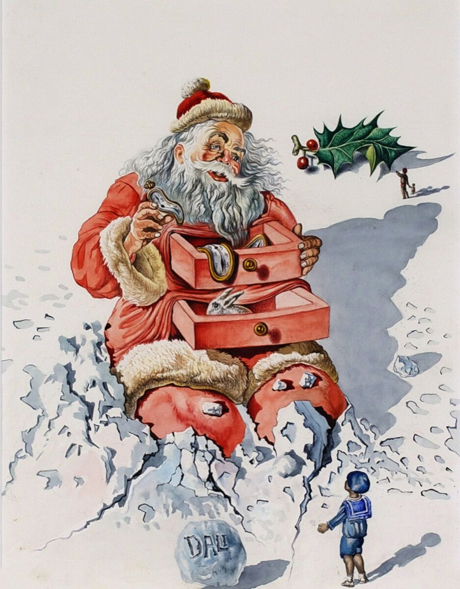 Salvador Dalí, Santa with Drawers, 1948. Hallmark Art Collection. Courtesy of Hallmark Archives.