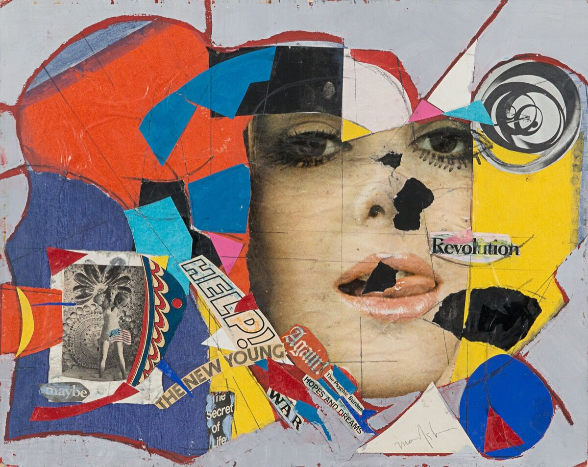 Beatrice Mandelman, Collage No. 9, c. 1960s. Image courtesy of Rosenberg & Co.