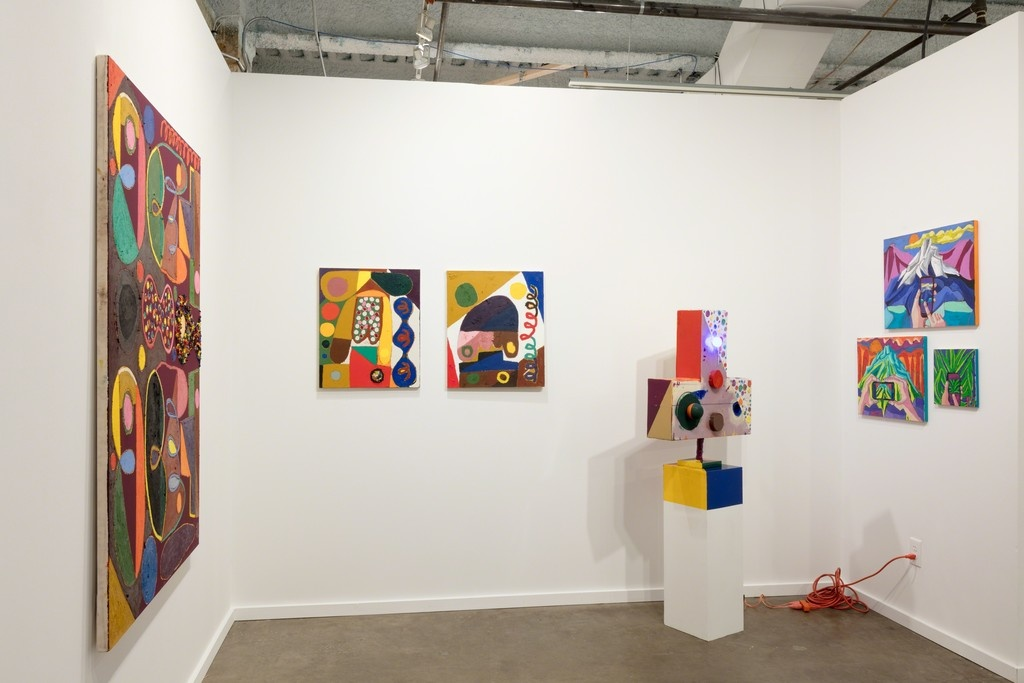 Installation view of Taymour Grahne Gallery's booth at Dallas Art Fair, 2017. Courtesy of Taymour Grahne Gallery.
