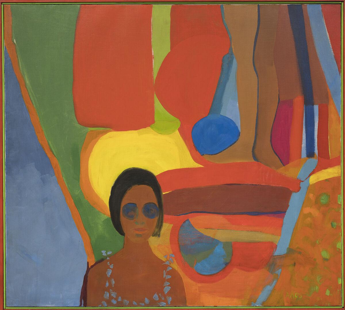 Emma Amos, Baby, 1966, oil on canvas. © Emma Amos; courtesy the artist and RYAN LEE Gallery, New York.