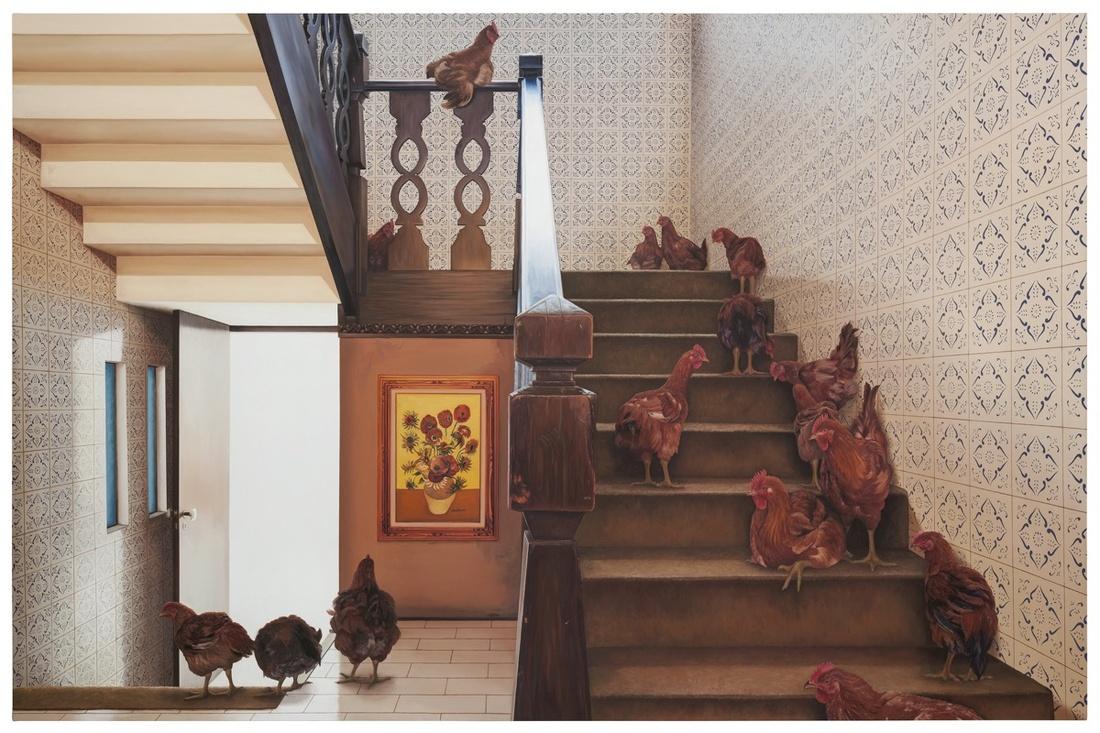 Ana Elisa Egreja, Escada galinhas, 2016. Courtesy of Galeria Leme.