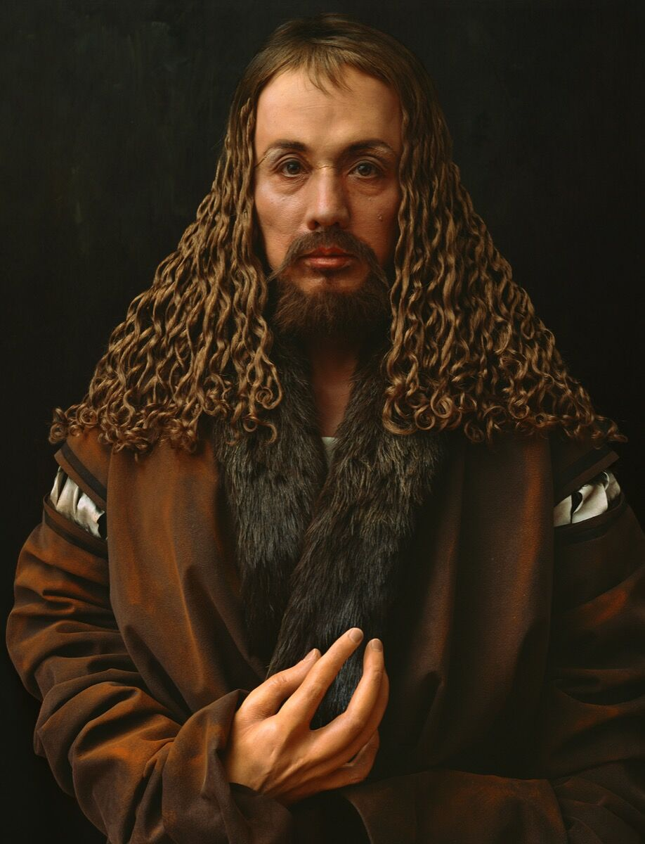Yasumasa Morimura, Self-Portraits through Art History (Dürer's Hand is Another Face), 2016. © Yasumasa Morimura Courtesy of the artist and Luhring Augustine, New York.