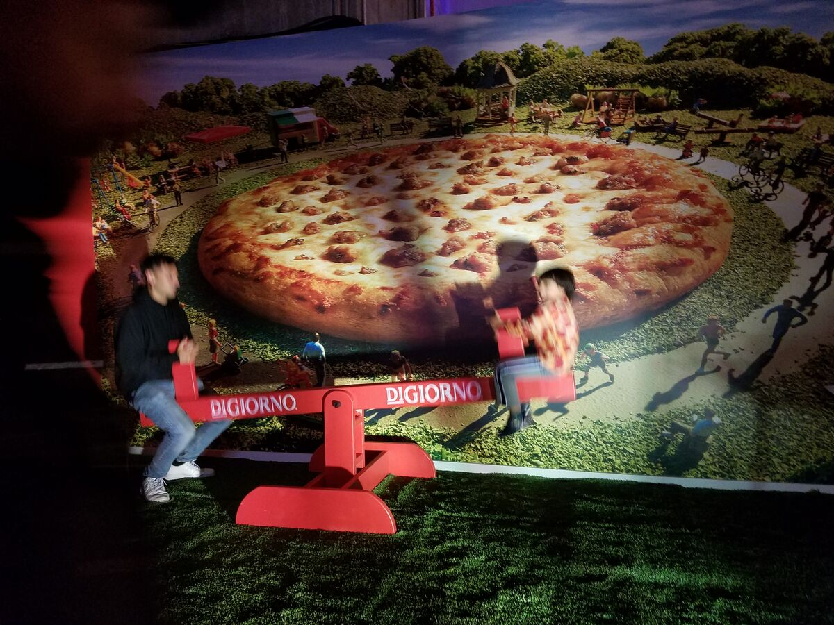 Installation view of The Museum of Pizza. Photo courtesy of Scott Indrisek.