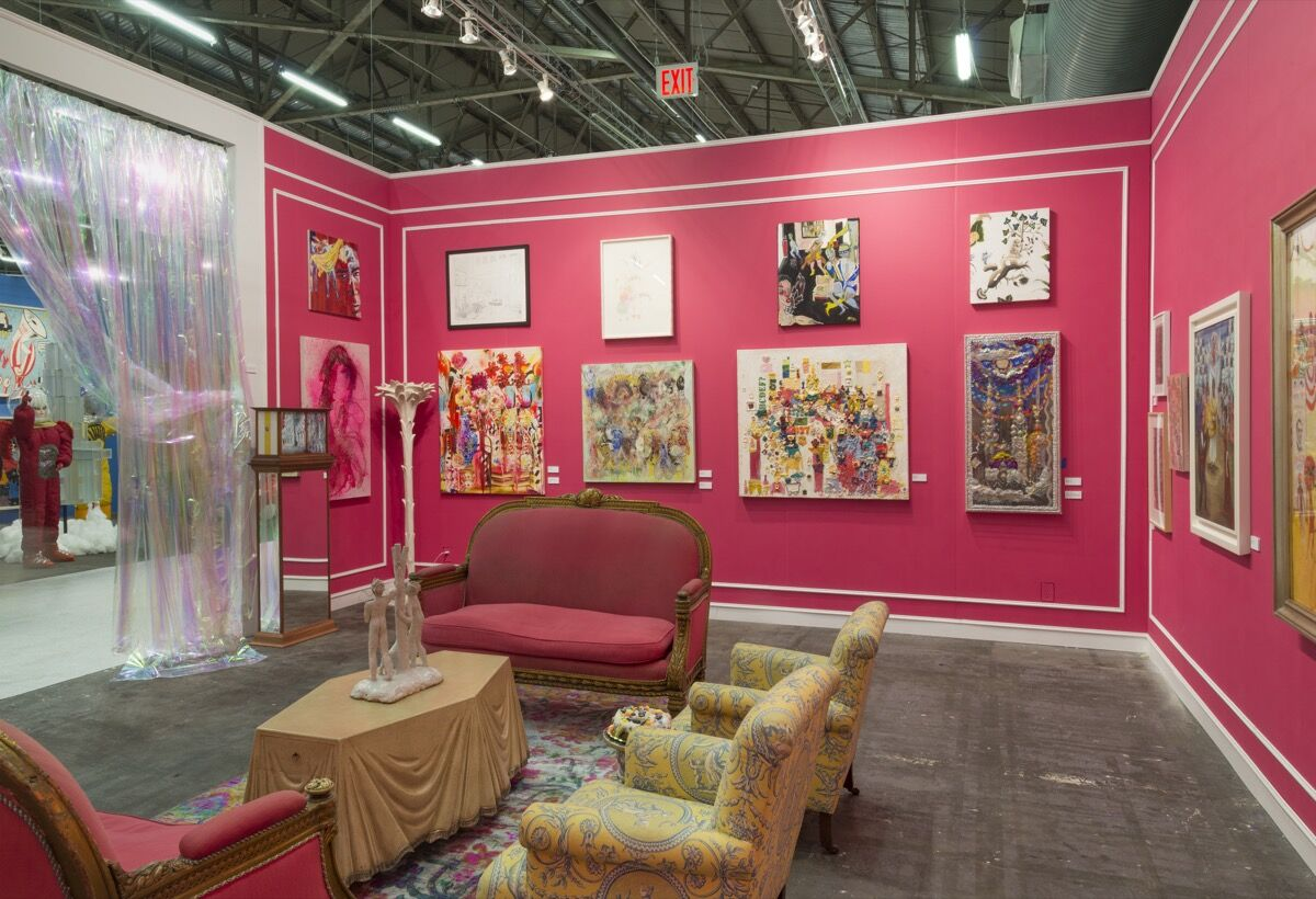 Installation view of Jeffrey Deitch's booth at The Armory Show, 2017. Photo by Adam Reich for Artsy.