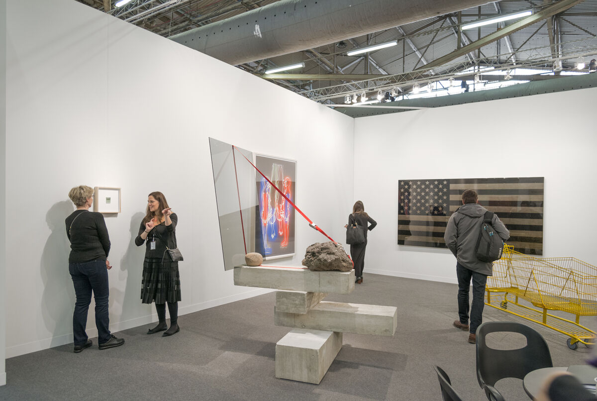 Installation view of Galería OMR's booth at The Armory Show, 2016. Photo by Adam Reich for Artsy.
