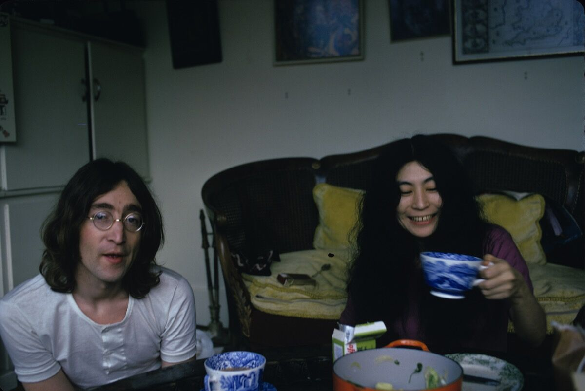 John Lennon and Yoko Ono, December 1968. Photo by Susan Wood/Getty Images.