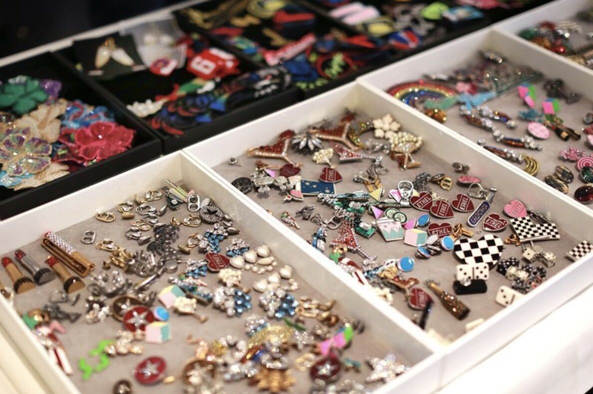 Pins backstage at the Marc Jacobs Resort 2017 Collection show. Photo by @elleyoungnews, via Instagram.