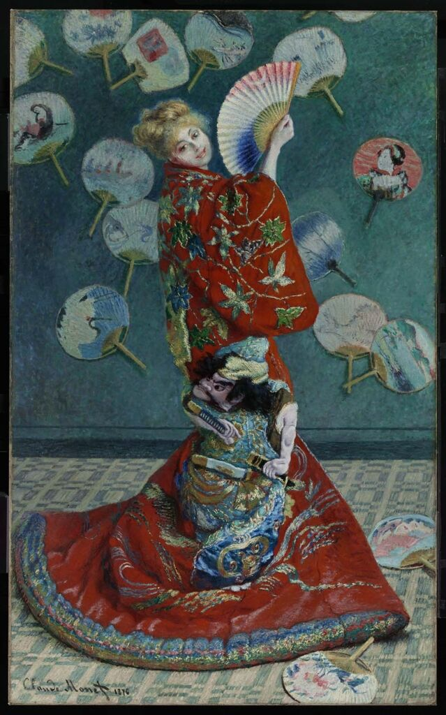 Claude Monet,La Japonaise (Camille Monet in Japanese Costume), 1876. Courtesy of the Museum of Fine Arts Boston.
