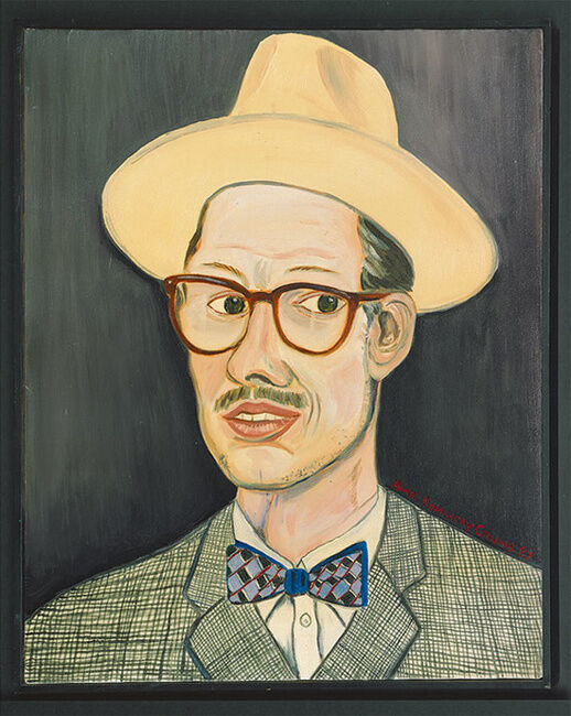 Aline Kominsky-Crumb, Portrait of Robert Crumb, 1987. Image courtesy of David Zwirner.