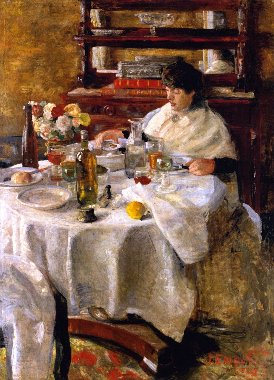 James Ensor, The Oyster Eater, 1882. Photo via The Athenaeum.