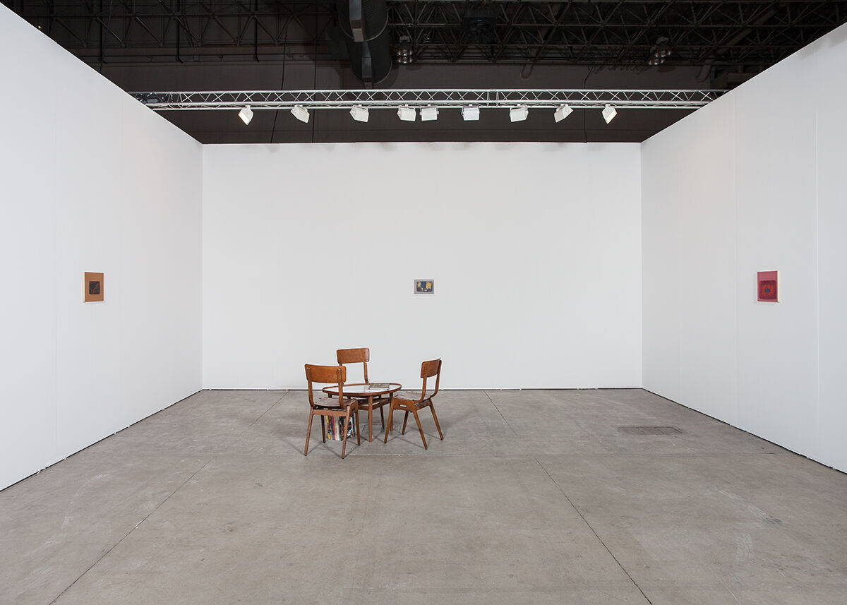 Installation view of Garth Greenan Gallery's booth at EXPO Chicago, 2015. Courtesy the gallery.