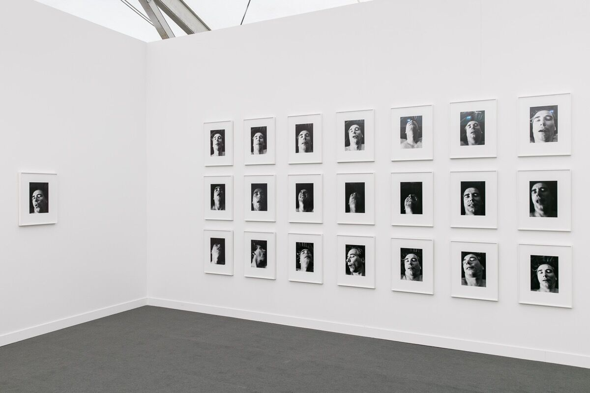 Installation view of Martos Gallery's booth at Frieze New York, 2017. Photo by Mark Blower, courtesy of Frieze.