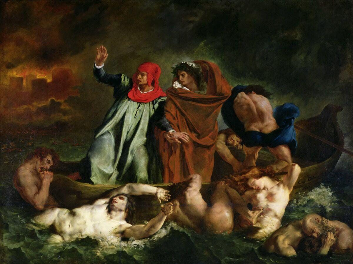 Eugène Delacroix, The Barque of Dante, 1822. Photo via Wikimedia Commons.