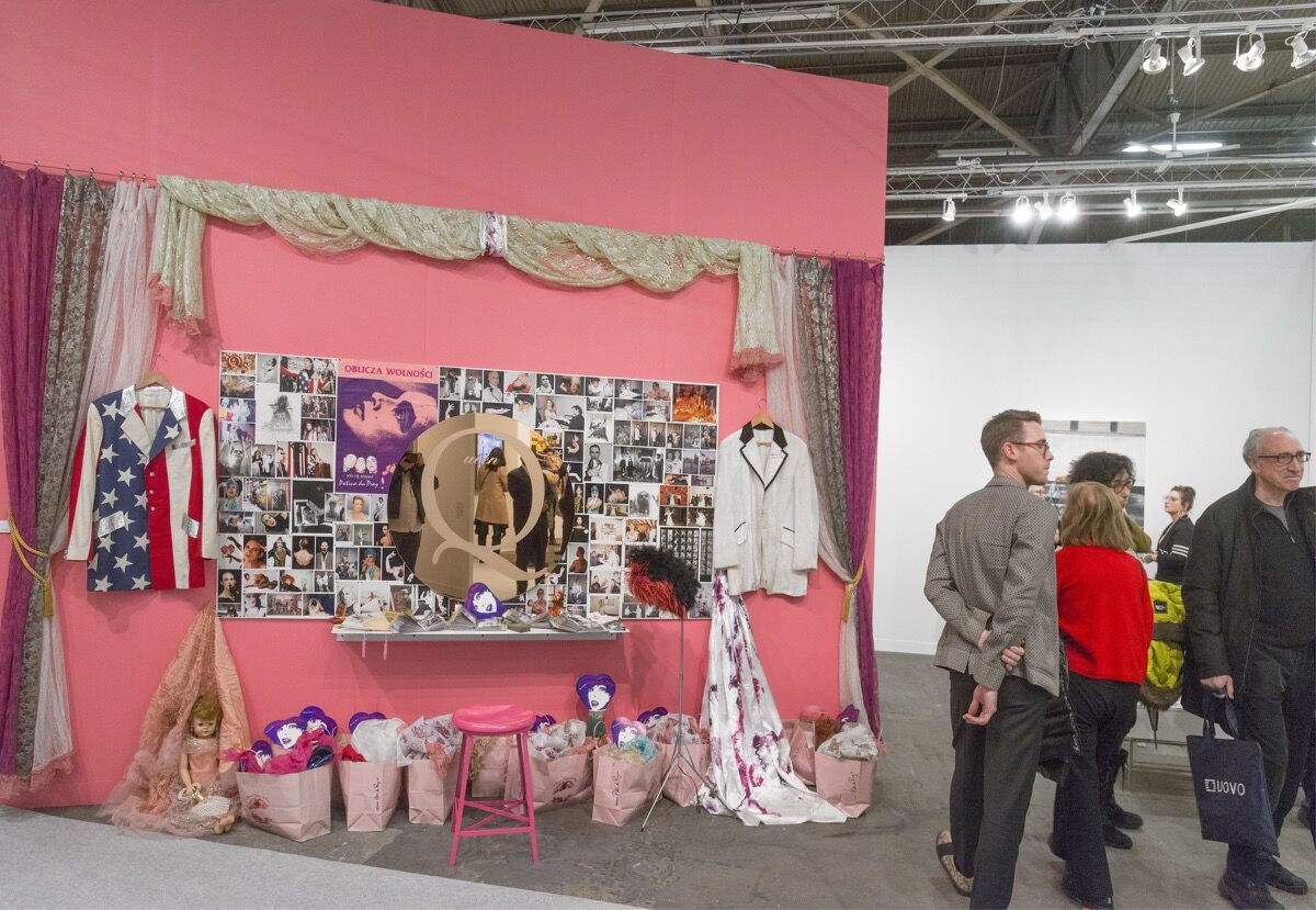 Installation view of P.P.O.W's booth at The Armory Show, 2018. Photo by Adam Reich for Artsy.