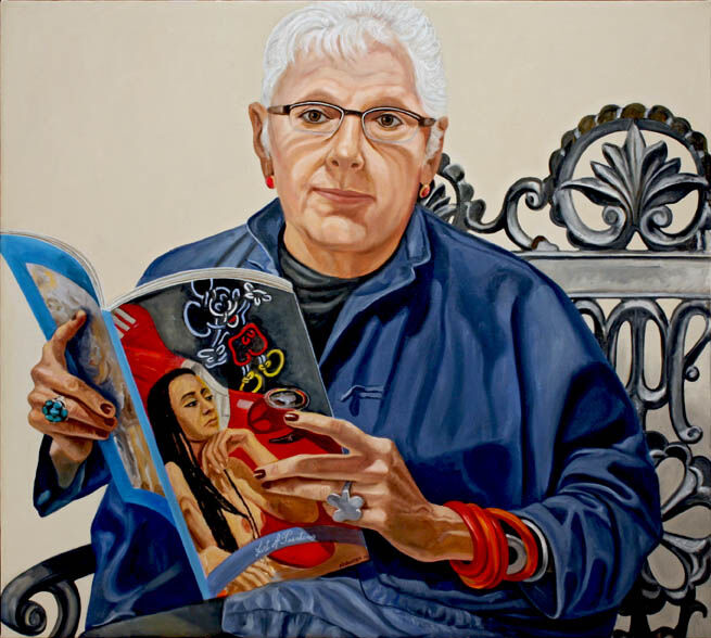 Philip Pearlstein, Portrait of Linda Nochlin, 2010. Courtesy of the artist and Betty Cuningham Gallery.