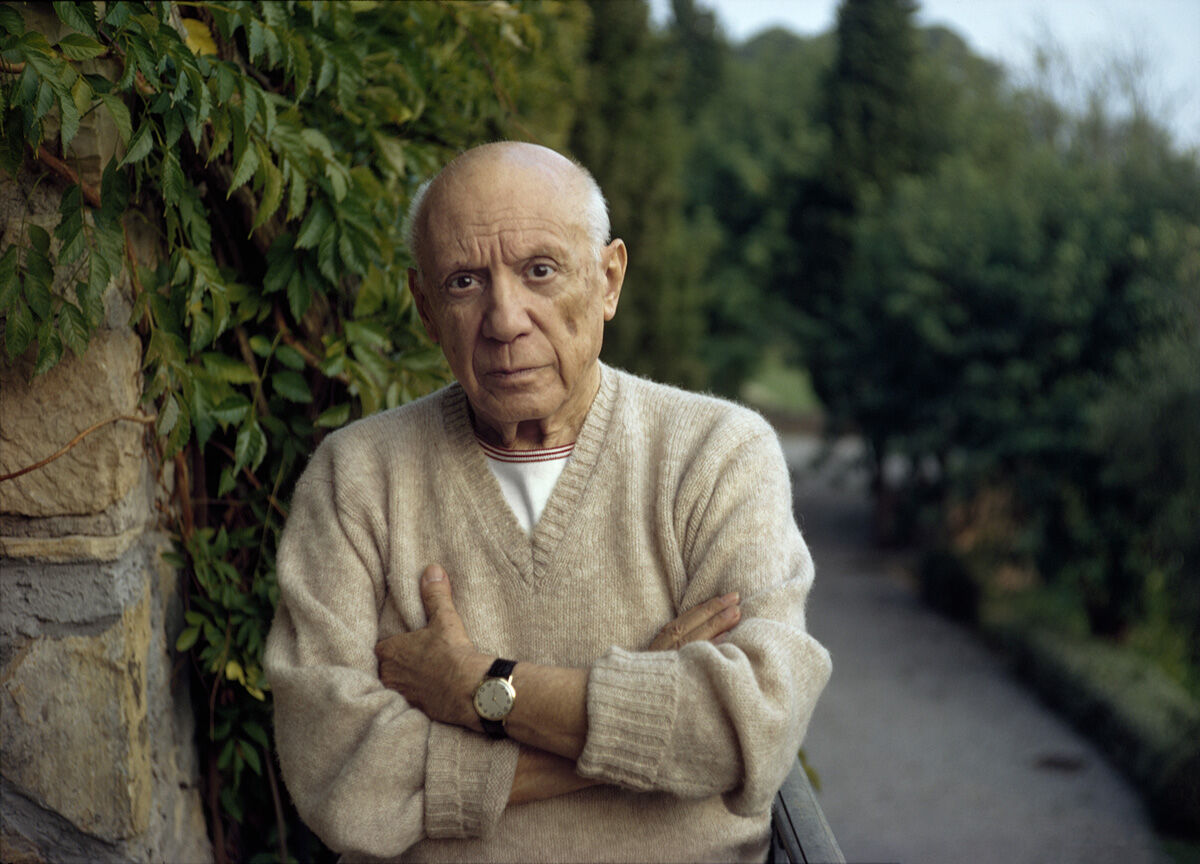 Tony Vaccaro, Pablo Picasso Mougins France, 1966. Courtesy Tony Vaccaro Studio/Monroe Gallery.