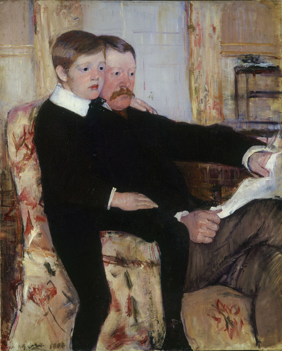 Mary Cassatt, Portrait of Alexander J. Cassatt and His Son, Robert Kelso Cassatt, 1884. Image via Wikimedia Commons.