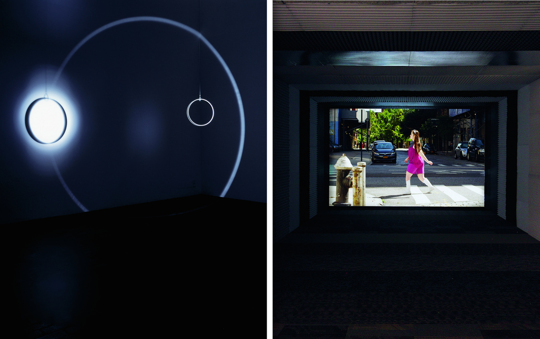 Left:Olafur Eliasson,Your space embracer,2004. CourtesyTanya Bonakder Gallery and the artist.Right:Martin Creed,Work No.1701,2013. Courtesy Gavin Brown, Hauser & Wirth, and the artist