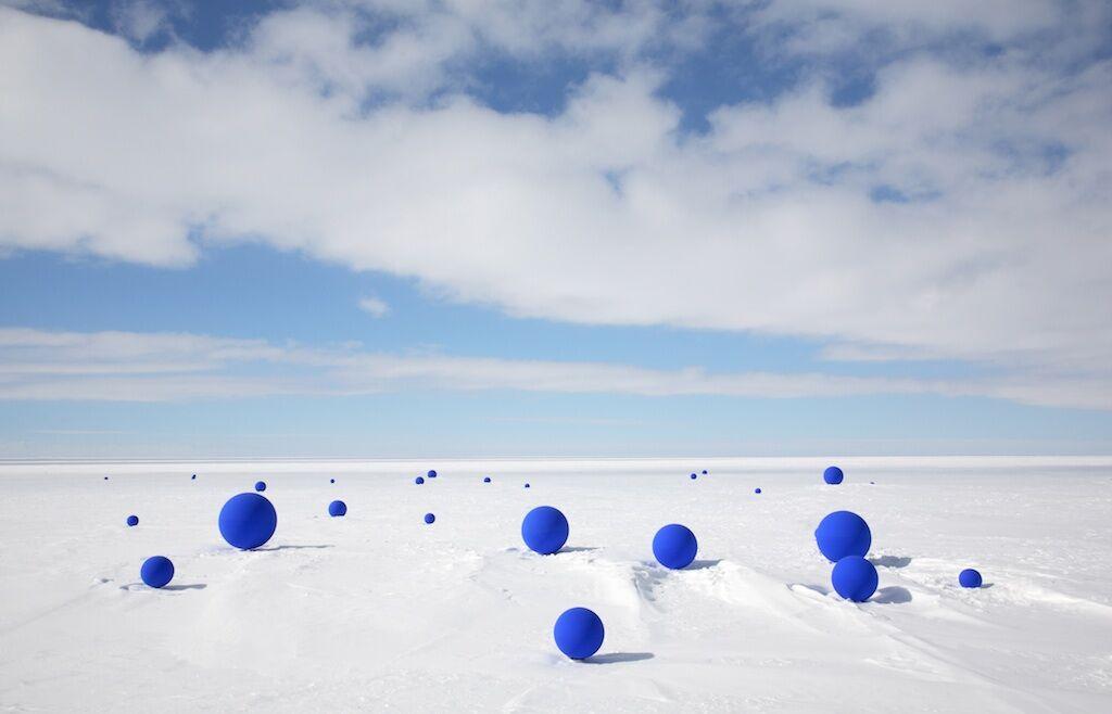 Lita Albuquerque, Southern CrossfromStellar Axis: Antarctica, Ross Ice Shelf, 2006. Photo by Jean de Pomereu.