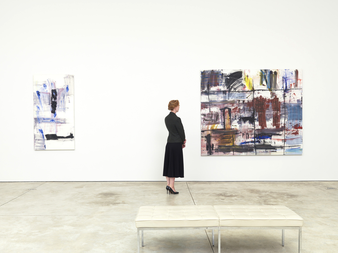 """Installation view of """"Louise Fishman"""" at Cheim & Read, New York. Courtesy of Cheim & Read, New York."""