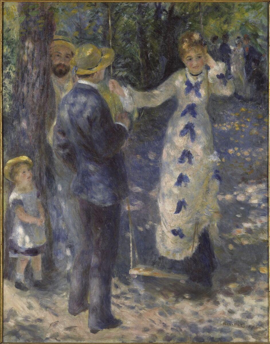 Pierre-Auguste Renoir, The Swing (La Balançoire), 1876. © RMN-Grand Palais (Musée d'Orsay) / Patrice Schmidt. Courtesy of Musée d'Orsay, Paris.
