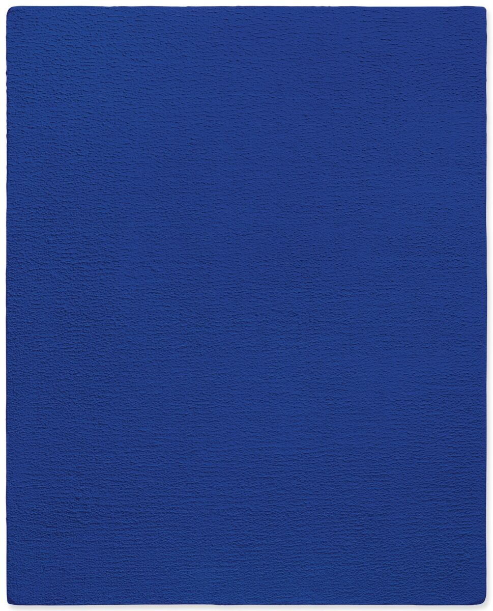 Yves Klein, Untitled Blue Monochrome, 1959. Courtesy of Christie