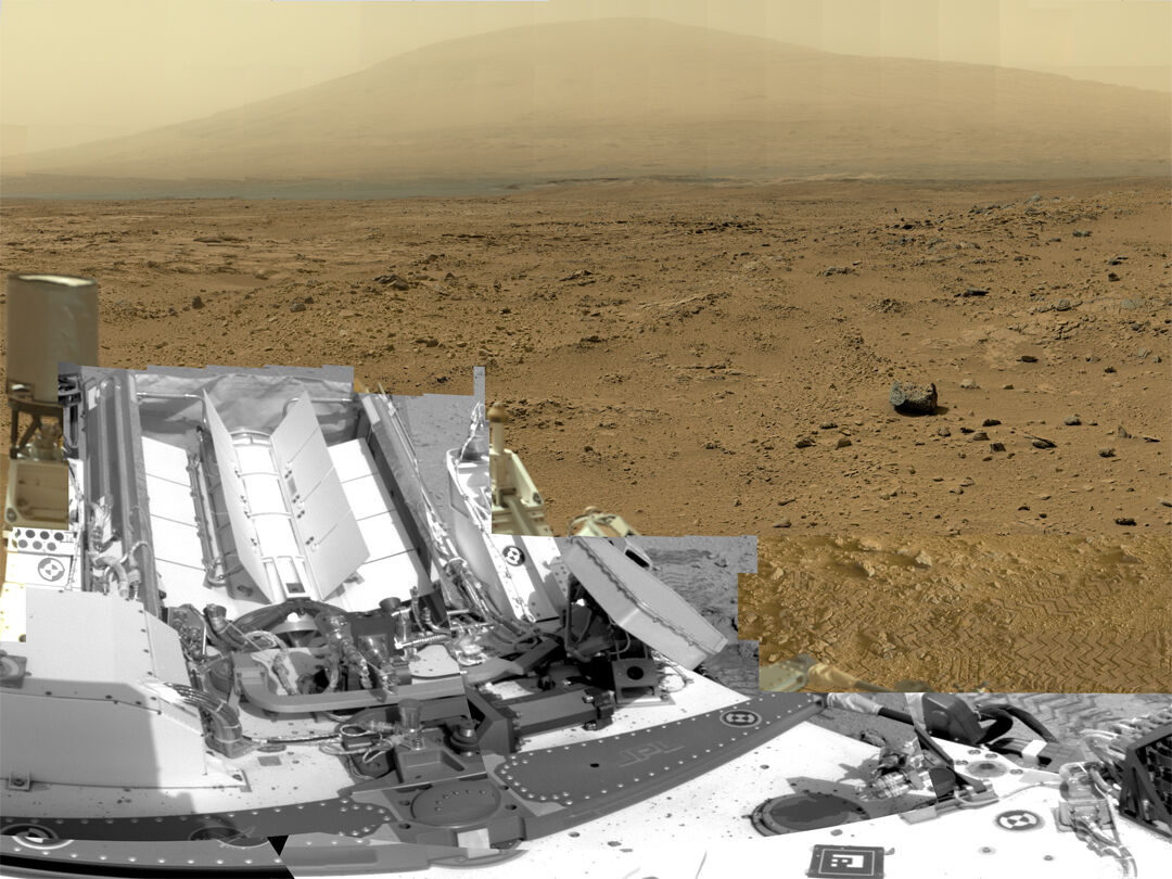 Rocknest Billion-Pixel Landscape, 2012. Photo by Curiosity. © NASA/JPL-Caltech/MSSS.