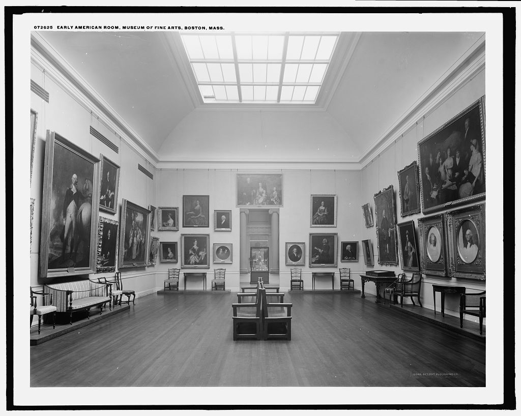 Early American Room, Museum of Fine Arts, Boston, Mass. Image via the Library of Congress.