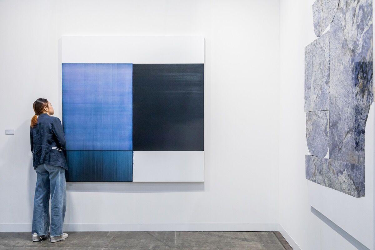 Installation view of Sean Kelly's booth at Art Basel in Hong Kong, 2018. © Art Basel.