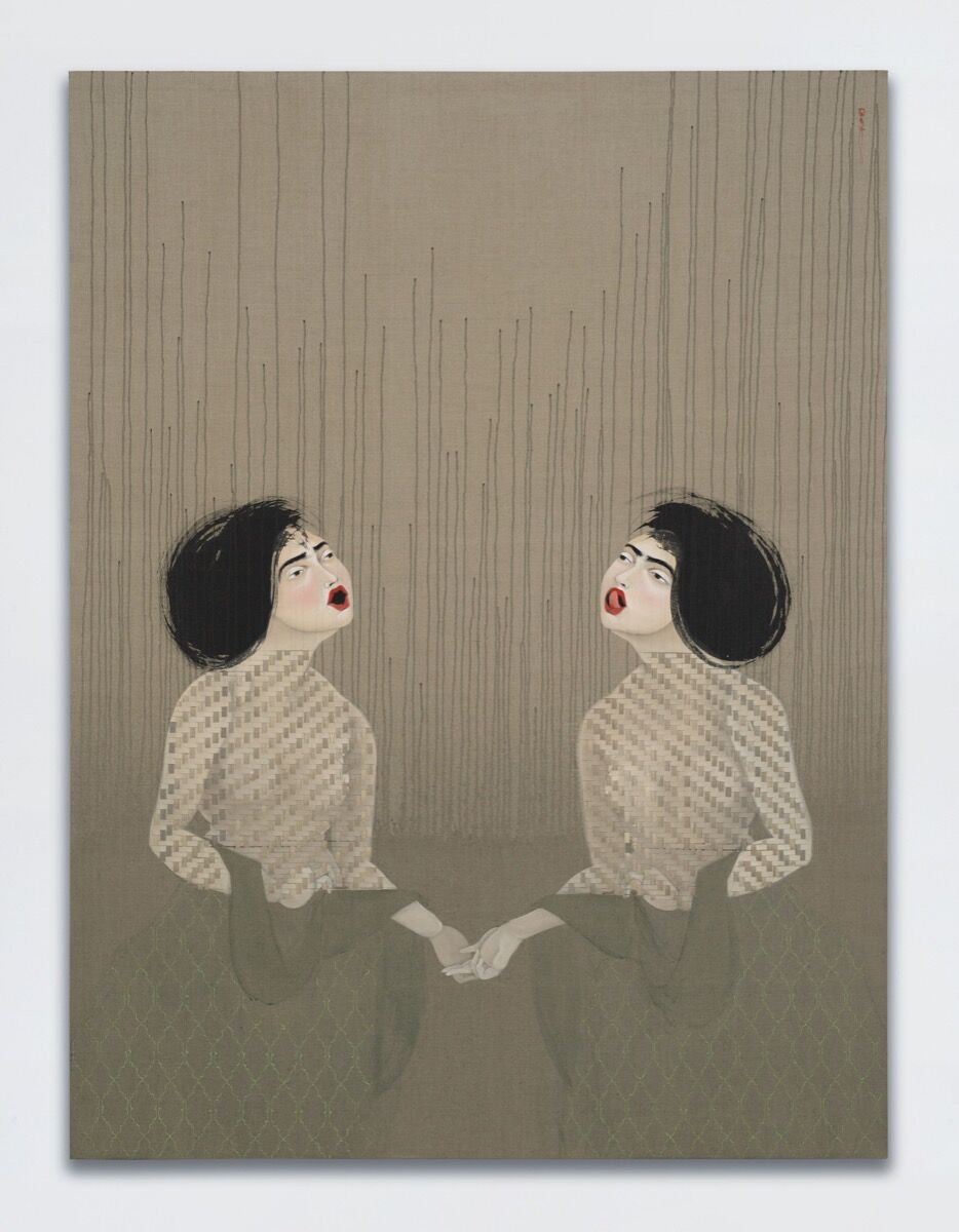 Hayv Kahraman, T25 and T26, 2017. © Hayv Kahraman. Courtesy of the artist, Jack Shainman Gallery, and White Cube.