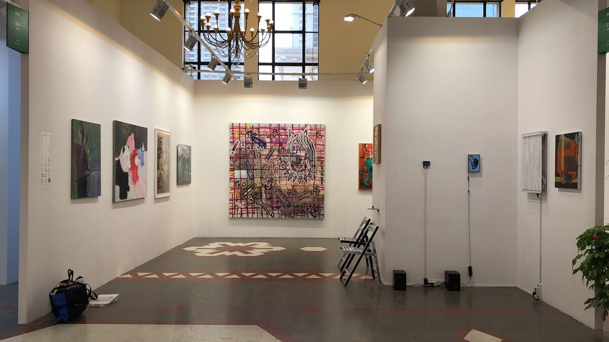 Installation view of AIKE's booth at Art021, 2018. Courtesy of AIKE.