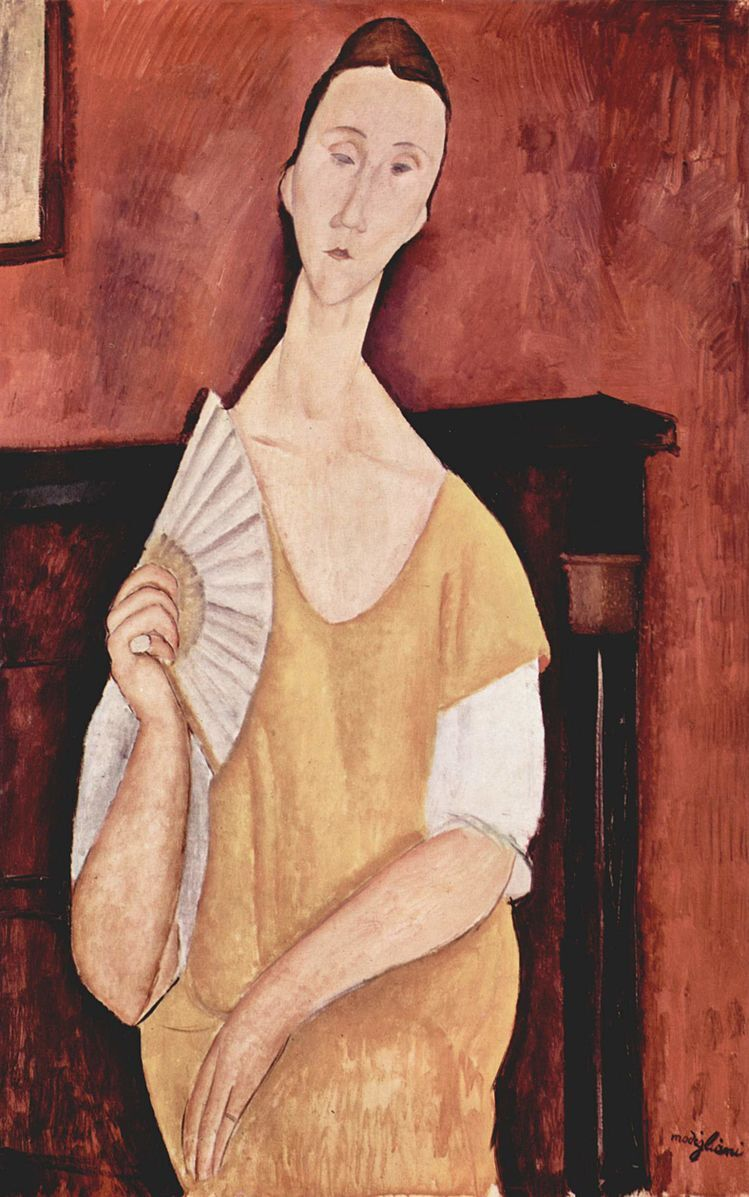 Amedeo Modigliani, La Femme a l'Eventail (Woman with a Fan), 1919.
